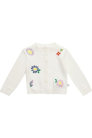 Stella McCartney Baby floral cotton and wool cardigan