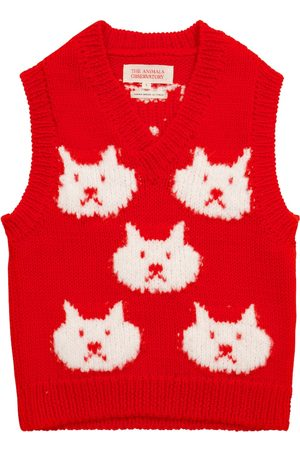 The Animals Observatory Arty Bat wool sweater vest