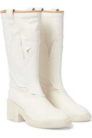 MM6 MAISON MARGIELA Leather cowboy boots
