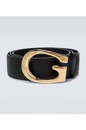 Gucci G buckle leather belt