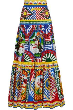 Dolce & Gabbana Printed cotton poplin maxi skirt