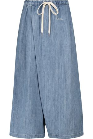 Marni Cotton and linen high-rise culottes