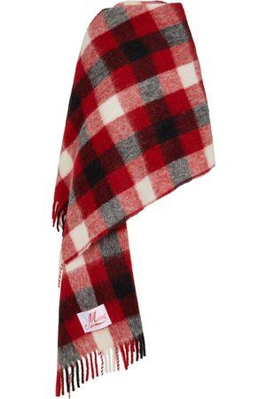 Marni Checked wool-blend poncho