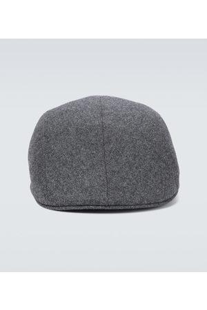 Brunello Cucinelli Wool flannel flat cap