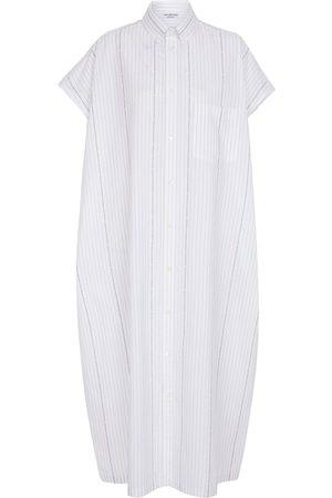 Balenciaga Striped cotton midi dress