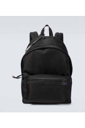 Saint Laurent Nylon and leather City backpack