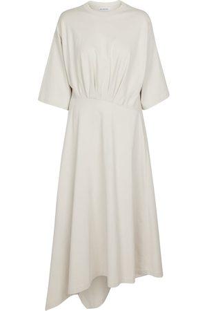 Balenciaga Asymmetric cotton midi dress