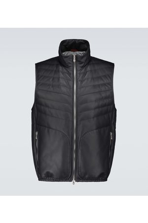 Brunello Cucinelli Padded leather gilet