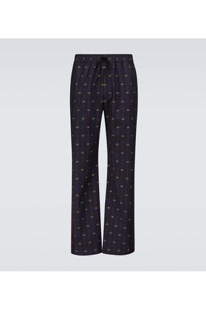 Gucci GG wool drawstring pants