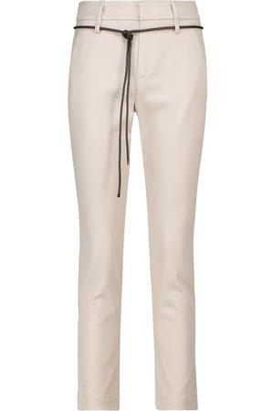 Brunello Cucinelli Stretch-cotton cigarette pants