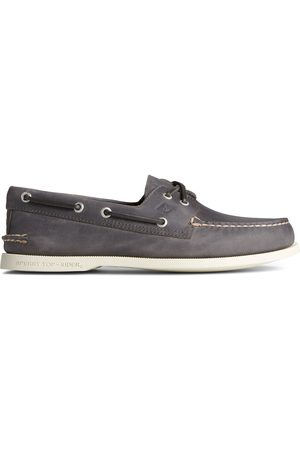Sperry Top-Sider Men's Sperry Authentic Original 2-Eye Cross Lace Boat Shoe Grey, Size 7M