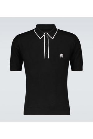AMIRI Cashmere and silk short-sleeved polo shirt