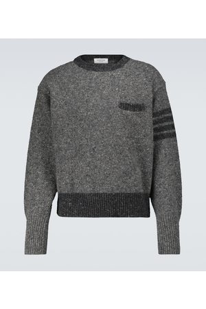 Thom Browne Wool and mohair-blend sweater