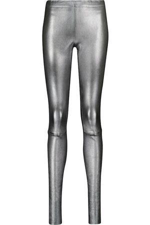 Stouls Carolyn metallic leather leggings