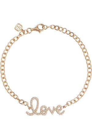 Sydney Evan Love 14kt yellow and diamonds chainlink bracelet