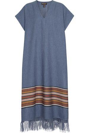 Loro Piana Exclusive to Mytheresa – The Suitcase Stripe cotton and linen kaftan