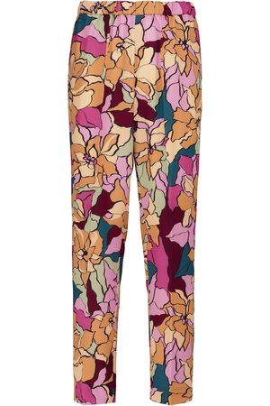DRIES VAN NOTEN Palmira floral straight-leg pants