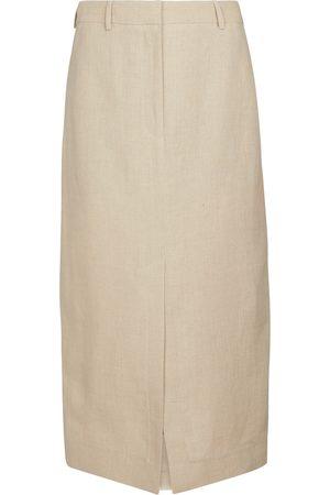 Burberry Linen pencil skirt