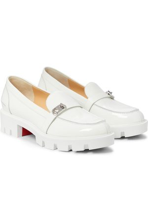Christian Louboutin Lock Woody leather loafers