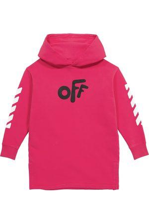 Off-White Kids Logo cotton jersey dress