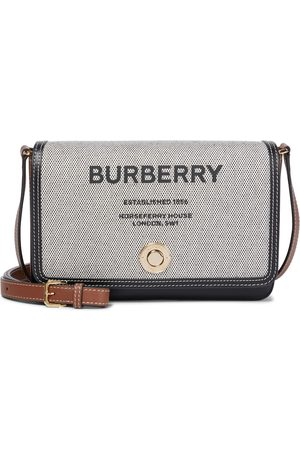 Burberry Horseferry canvas and leather crossbody bag