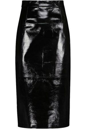 Khaite Mya leather pencil skirt
