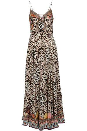 Camilla Leopard-print silk maxi dress