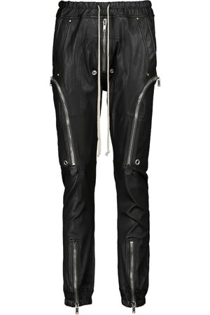 Rick Owens Lillies leather and cotton trackpants