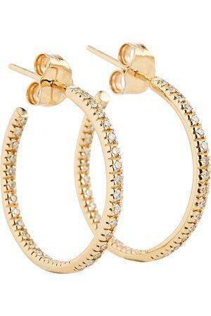 Sydney Evan 14kt hoop earrings with diamonds