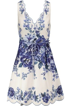 ZIMMERMANN Aliane floral linen minidress