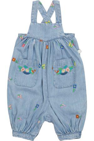 Stella McCartney Baby embroidered denim overalls