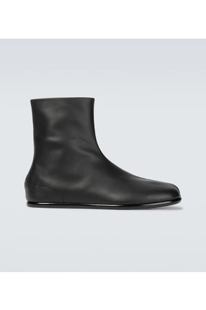 Maison Margiela Tabi flat leather boots