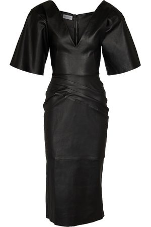MATICEVSKI Leaded midi leather dress