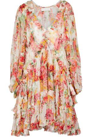 ZIMMERMANN Cassia floral silk georgette minidress