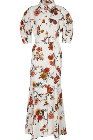BROCK COLLECTION Belted floral cotton maxi dress