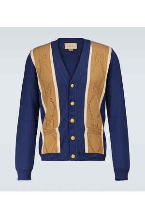 Gucci GG perforated cotton cardigan