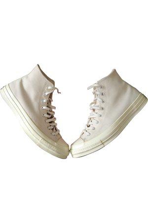 Converse Ecru Cloth Trainers