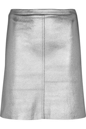 Stouls Lucie metallic leather miniskirt