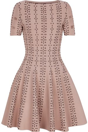 Alaïa Stretch-knit jacquard minidress