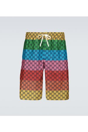 Gucci GG Multicolor silk twill shorts