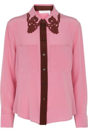 Chloé Long-sleeved silk shirt