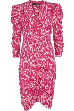 Isabel Marant Celina floral stretch-silk minidress