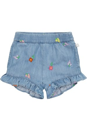 Stella McCartney Baby embroidered denim shorts