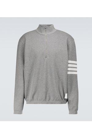 Thom Browne 4-Bar half-zipped sweatshirt
