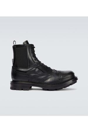 Alexander McQueen Brogue leather boots