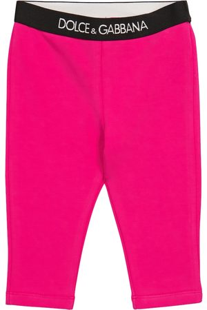 Dolce & Gabbana Baby stretch-cotton leggings