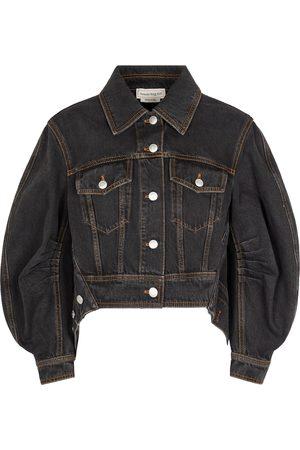 Alexander McQueen Draped denim jacket