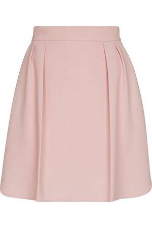 Max Mara Africa stretch-crêpe miniskirt