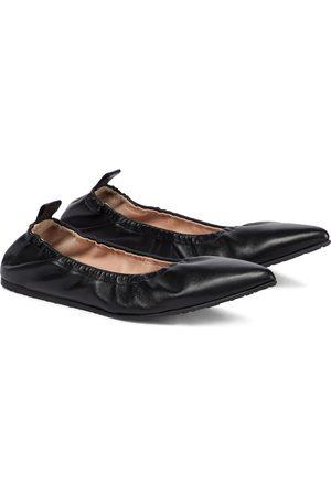 Gianvito Rossi Alina leather ballet flats