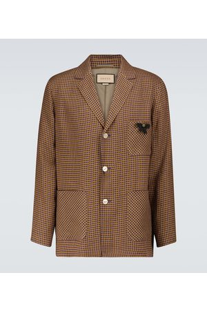 Gucci Checked single-breasted jacket